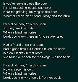 WHEN A BLIND MAN CRIES