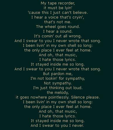 Я никогда не писал