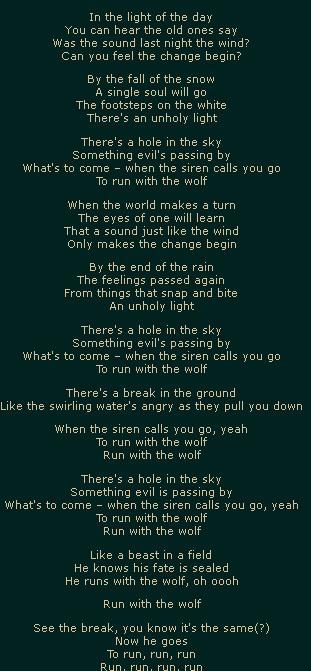 Беги от волков